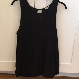 Black tank with layered look detail